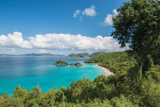 Lovely beaches and warm turquoise waters await on St. John, U.S. Virgin Islands.