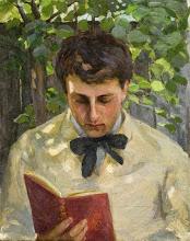 """Photo: Albert Ranney Chewett, """"Giovane uomo che legge"""" (inizio XX secolo)"""