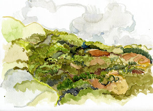 Photo: 2009 View west from Testarossa Winery. Los Gatos, CA. Watercolor