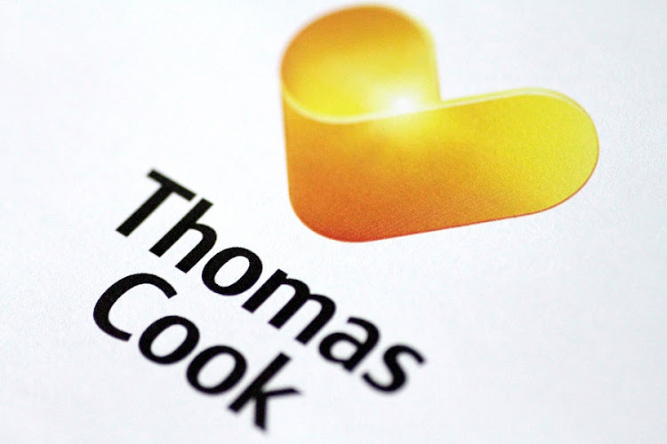 The Thomas Cook logo is seen in this illustration. Picture: REUTERS/THOMAS WHITE
