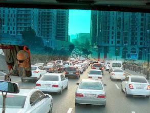 Photo: Baku belvárosa felé, Azeri Manhattan, nagyváros, Bakui forgalom
