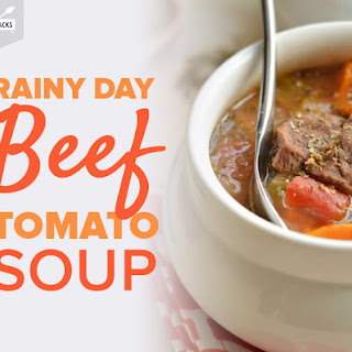 Rainy Day Beef Tomato Soup.