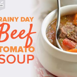 Rainy Day Beef Tomato Soup.
