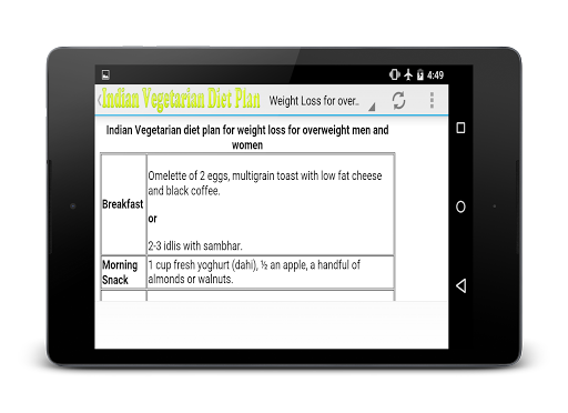 Indian vegetarian weight loss 2.1 screenshots 4