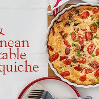 Chicken and Mediterranean vegetable quiche.