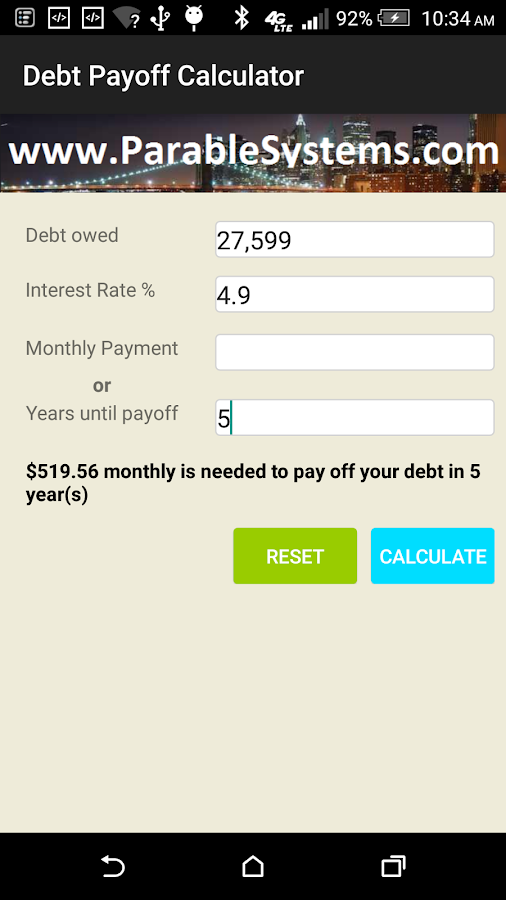 accurate debt payoff calculator android apps on google play