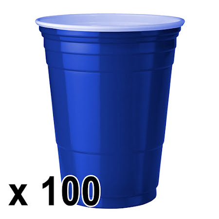 100 kpl. Blue Cups Mukit (473 ml./16 Oz.)