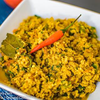 Spicy Kheema / Ground Chicken Recipe