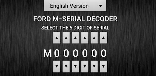 M-Serial Radio Code Decoder - Apps on Google Play