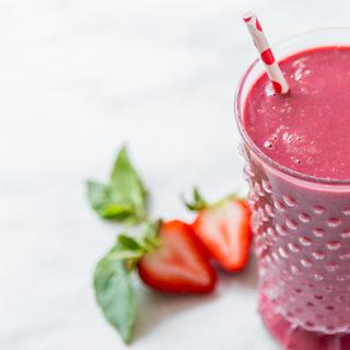 Strawberry Thai Basil Smoothie.