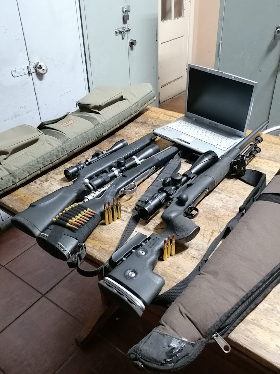 Three hunting rifles and ammunition were recovered by SAPS during a follow-up operation in the Nuy Valley, near Worcester, on Sunday