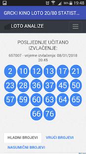 Grčki KINO Loto 20/80 Statistika i Analiza brojeva - náhled