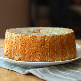 Pumpkin Spice Angel Food Cake with Coffee Glaze Recipe