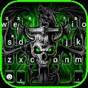 Neon Gothic Skull Keyboard Theme icon