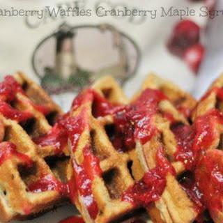 Cranberry Waffles.