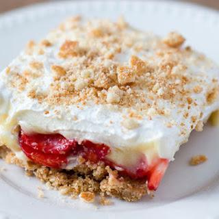 Strawberry-Banana Cream Pie Bars.