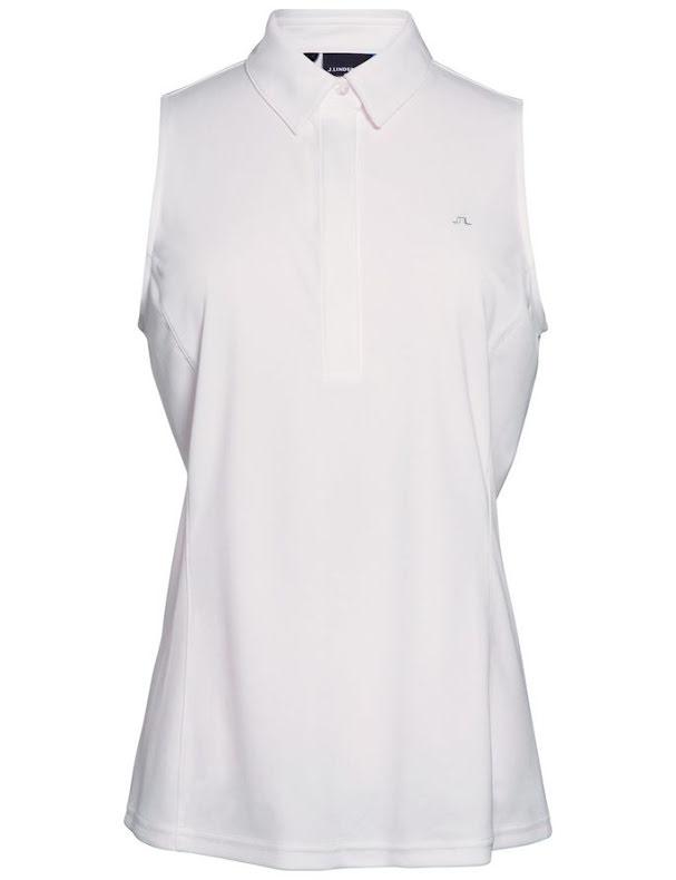 J Lindeberg Golf W Dena TX Jersey White
