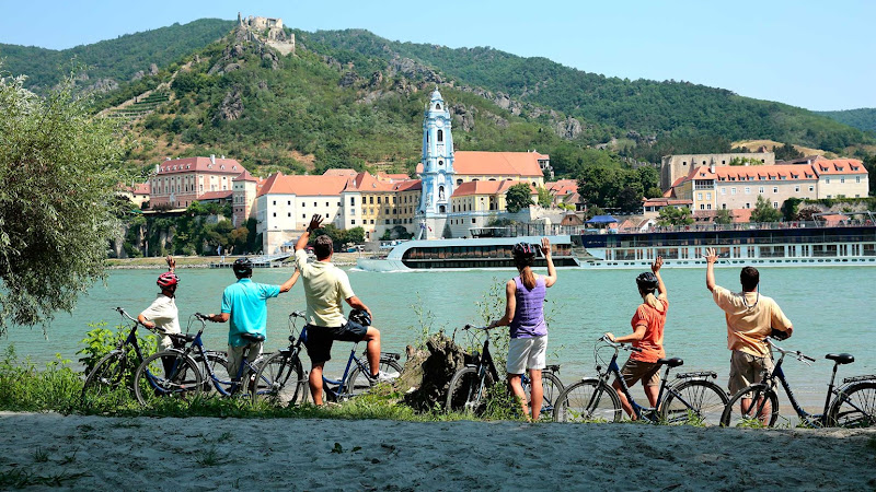 See Durstein, Austria, by bicycle during your river cruise on AmaWaterways.