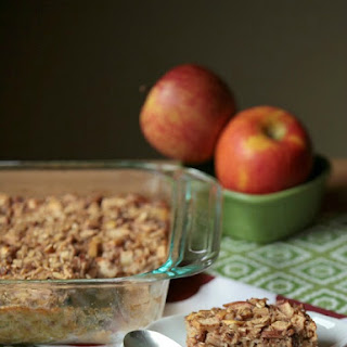 Apple Pie Baked Oatmeal with Peanut Butter Protein Granola