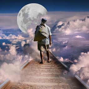 Way to The Moon by Dadan Supardan - Digital Art People