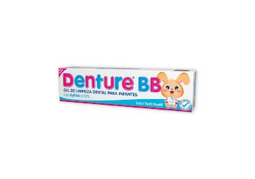 Gel Dental DENTURE BB   Sin Flúor Tutti Frutti x30g.