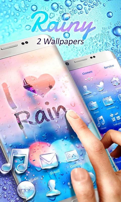 Screenshots of Rainy GO Launcher Theme for iPhone