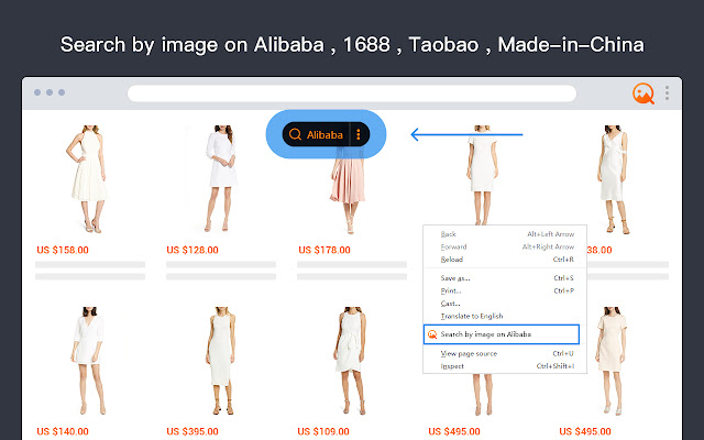 AliPrice search by image for Alibaba