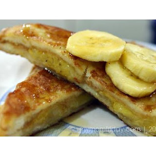 Mom-Friday's Peanut Butter & Banana French Toast