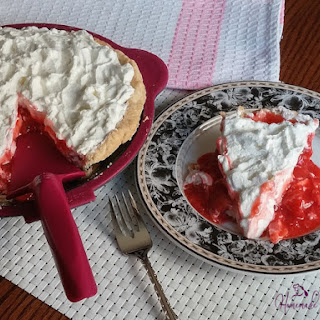 Strawberry Pie....with Flavoured Whipped Cream
