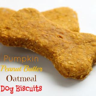 Pumpkin Peanut Butter Oatmeal Dog Biscuits