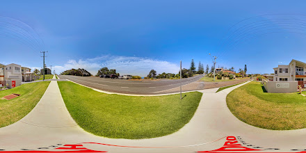 Photo: Street View - Pacific Drive Looking across the road to Nobbys Beach www.escapeatnobbys.com.au