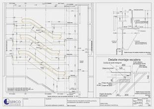 Photo: Plano de sección por los huecos abiertos en los forjados para las escaleras mecánicas y el ascensor
