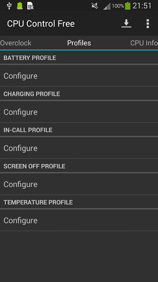 CPU Control Free - screenshot