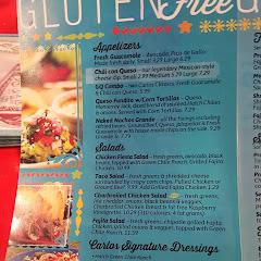page 1 of the GF menu