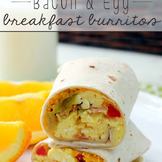Bacon & Egg Breakfast Burritos