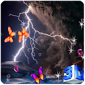 3D Lightning Storm Wallpapers
