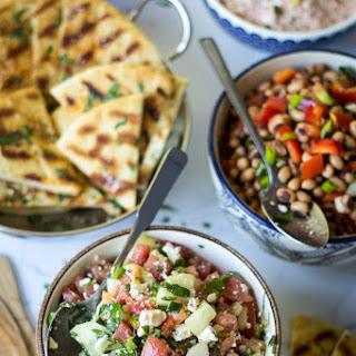 Turkish Cucumber, Feta, and Tomato Salad