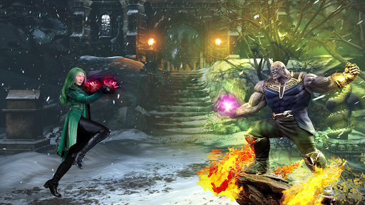 Thanos Vs grand superhu00e9ros Infinity Lutte Battle  captures d'u00e9cran 10