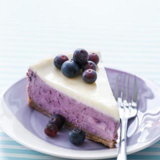 Blueberry Crème Fraîche Cheesecake.