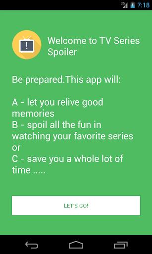 TV Series Spoiler