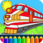 Train drawing game for kids