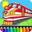 Train drawing game for kids icon