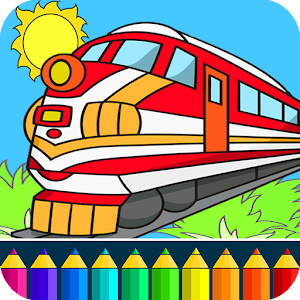 Train drawing game for kids for PC and MAC