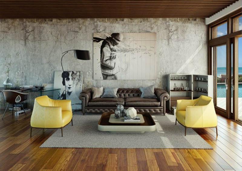 22 Thiết kế nội thất phòng khách tối giản