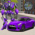 Robot Car Transforme Futuristic Supercar icon