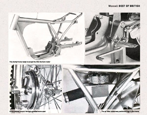 Wassell BSA Bantam, le texte qui explique l'histoire de cette machine