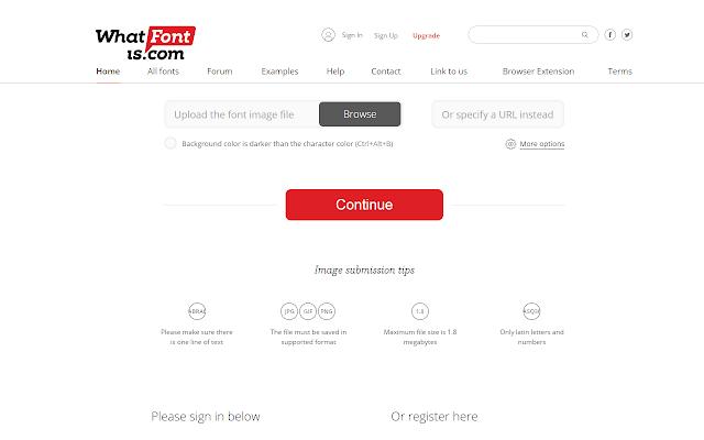 WhatFontis.com right-click shortcut chrome extension