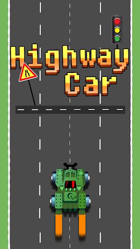 スピーディ高速道路の車の街乗り