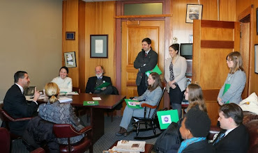 Photo: Representative Aaron Petrucelli (far left) entertained a whole crowd of lobbying attorneys in his offices.