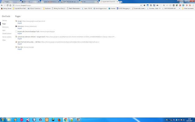 Open DevTools tab quicker...